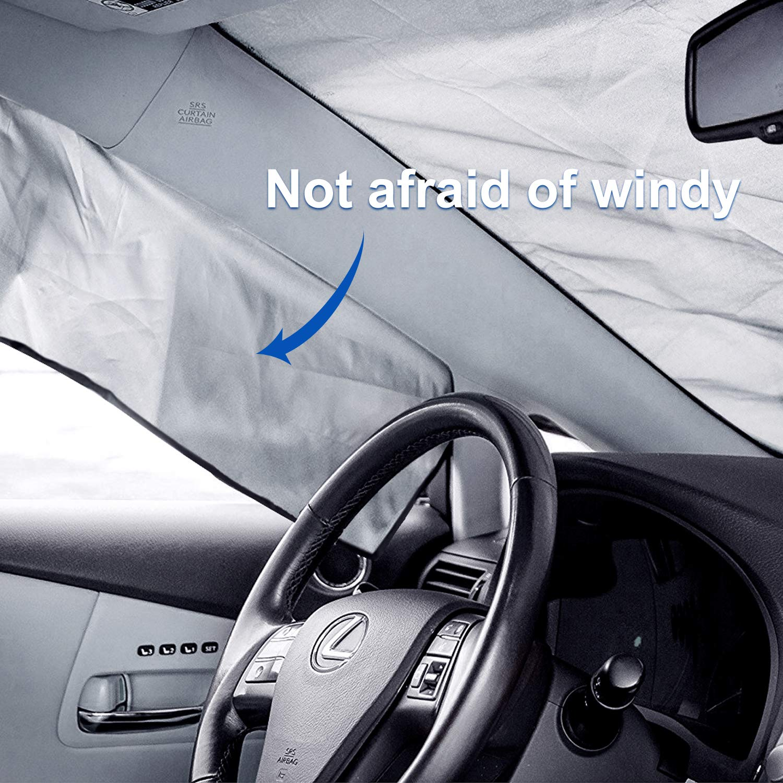 UV Orlegol Doble Lados Protector de Parabrisas de Coche Magn/ético Parabrisas Anticongelaci/ón Hielo Frost Shield Parabrisas Cubierta de Nieve Hielo 210 x 120 CM Parabrisas Cubierta de Protecci/ón