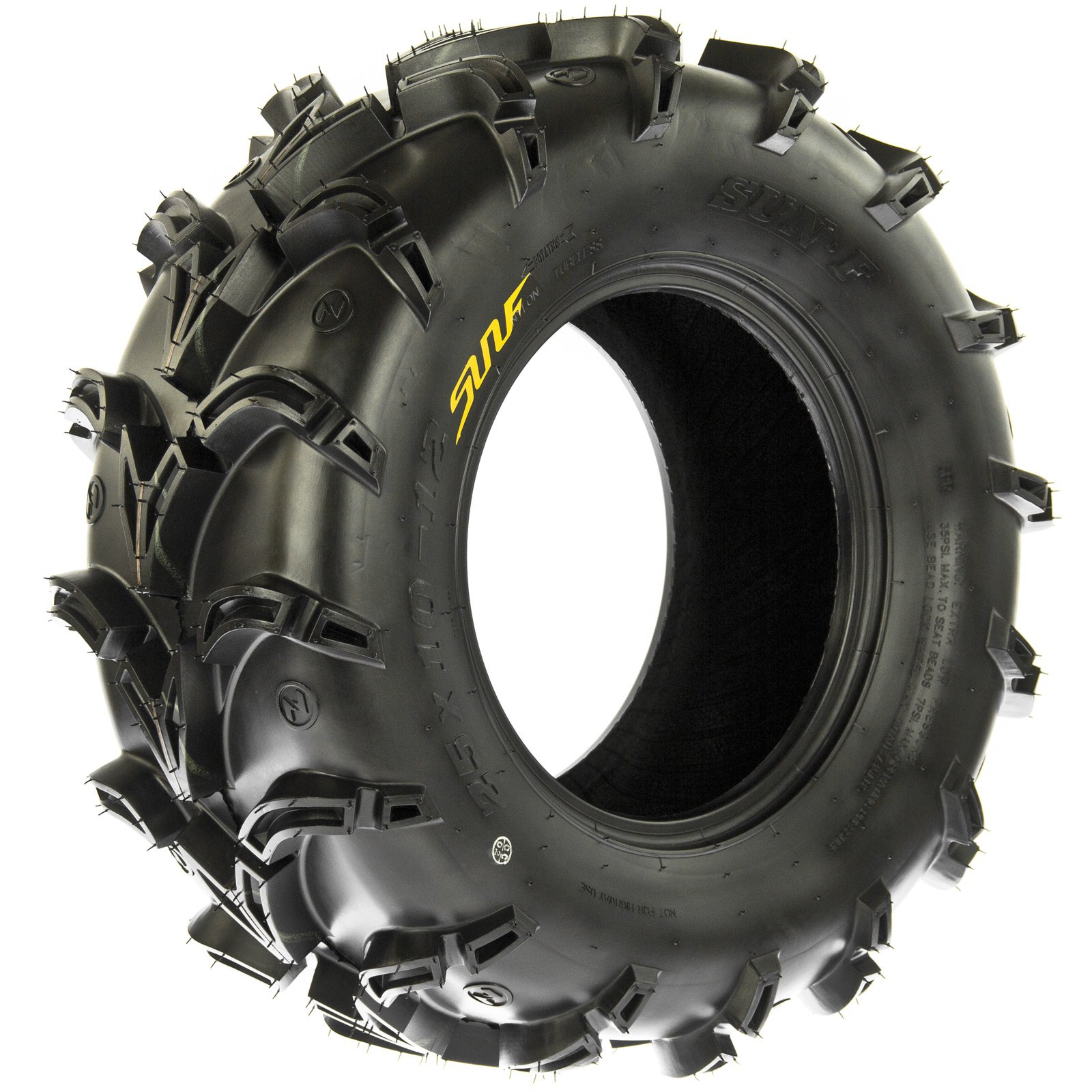 SunF A050 AT Mud & Trail 25x11-10 ATV UTV Tires, 6PR, Tubeless by SunF (Image #8)