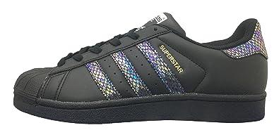 new product 961e6 6a672 adidas Superstar J Black Black Black (Big Kid) (4 M US