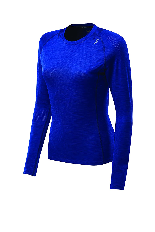 361 Degree Sports Apparel Mens Quk Heather mesh Long Sleeve Shirt