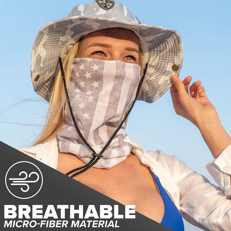 Uliykon Unisex Microfiber Face Mask Sweden Swedish Flag Map Bandana Neck Gaiter Balaclava Reusable Breathable Cloth Shield Cover Scarf for UV Sun Dust Protection