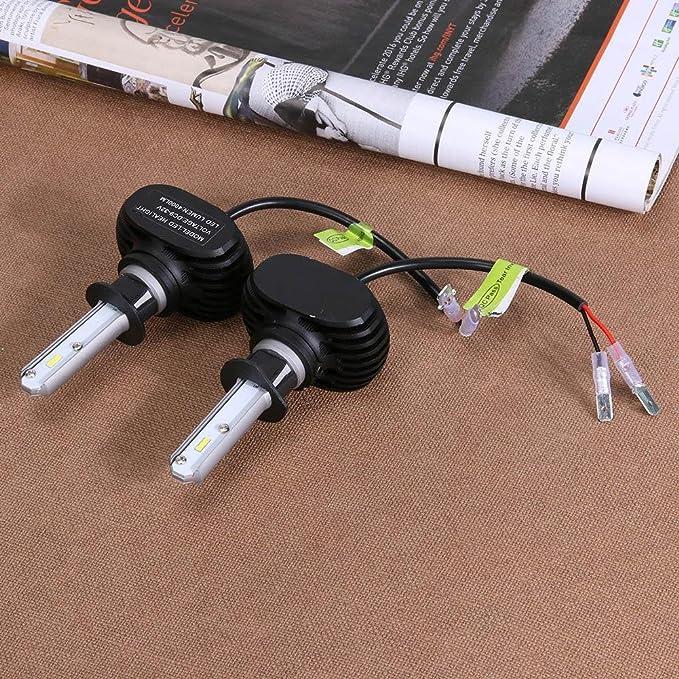 Starnearby Universal 2pcs H1 LED Auto Head Bombillas Faro Reemplazo: Amazon.es: Coche y moto