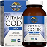 Garden of Life Vitamin Code Whole Food Multivitamin for Men - 240 Capsules, Vitamins for Men, Fruit and Veggie Blend and Prob