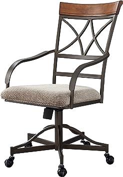 Amazon Com Powell Hamilton Swivel Tilt Dining Chair On Casters Chairs