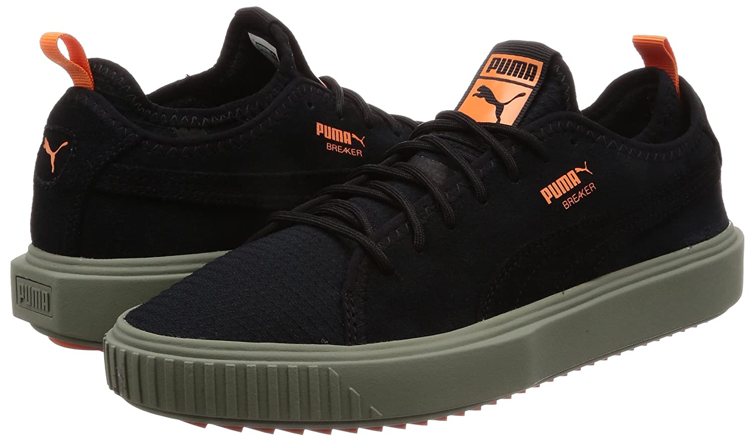 Puma Breaker Men s Black Mesh Shoes -43  Buy Online at Low Prices in India  - Amazon.in a0ae9ec4a
