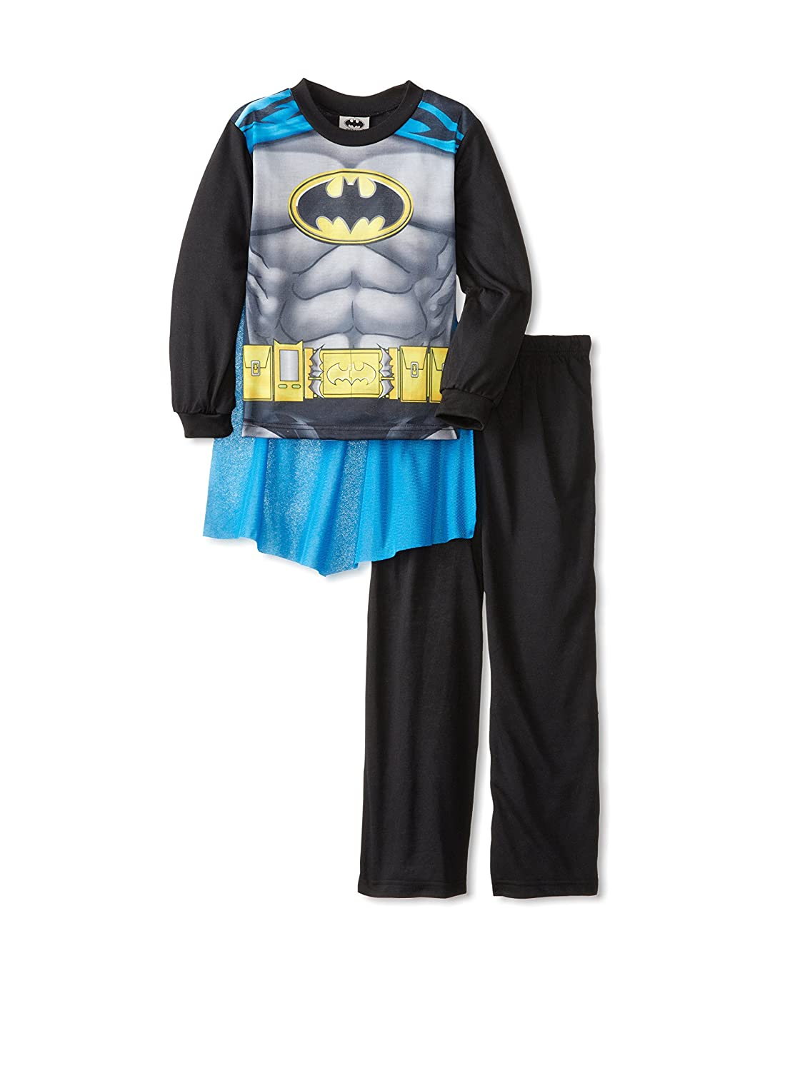 DC Comics Big Boys' Batman with Blue Cape Pajamas