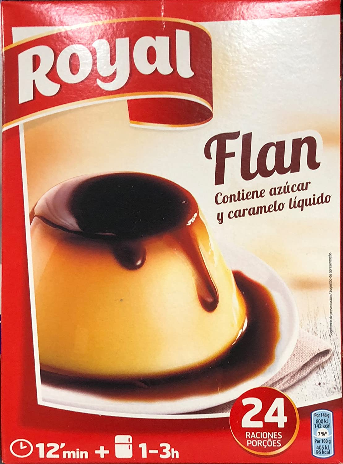 Royal Flan Familiar - Paquete de 6 x 93 gr - Total: 558 gr: Amazon ...