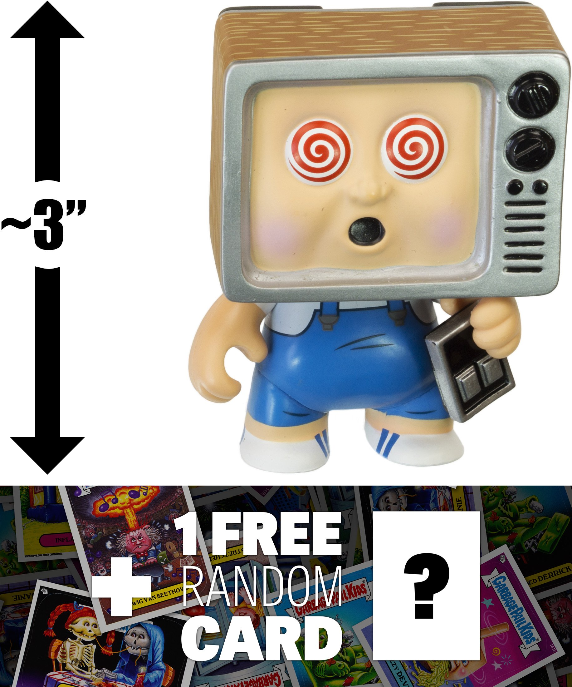 Teevee Stevie: ~3'' Garbage Pail Kids x Funko Mystery Minis Mini-Figure Series #1 + 1 FREE GPK Trading Card/Sticker Bundle [55387]