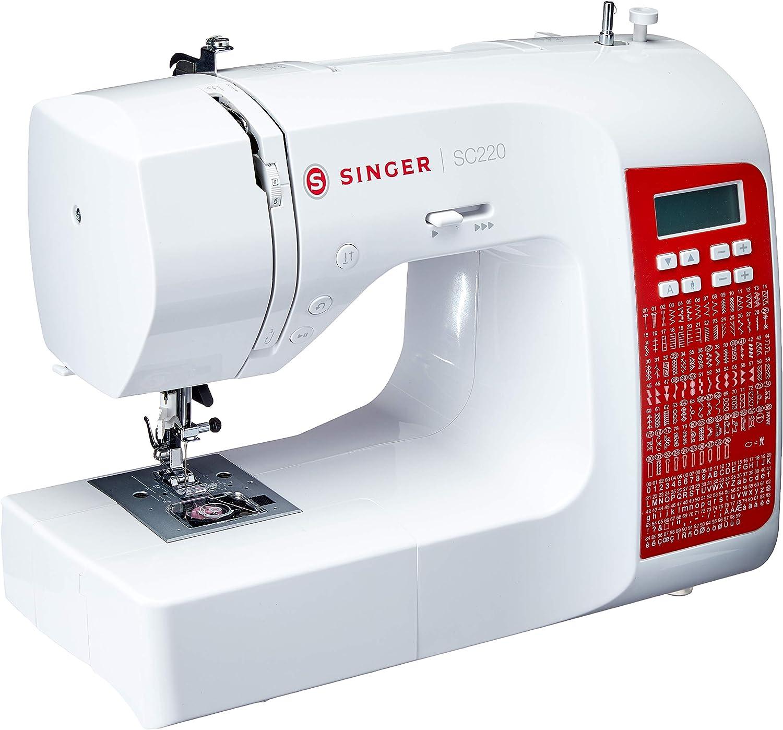 Máquina de Costura Mecânica, Acme SC 220 RD, Auto Volt, Singer, Branca por Singer