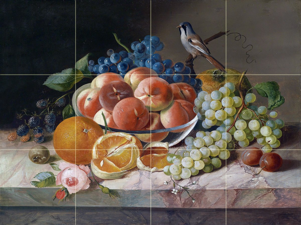 How To Paint Over Fruit Tile In Kitchen