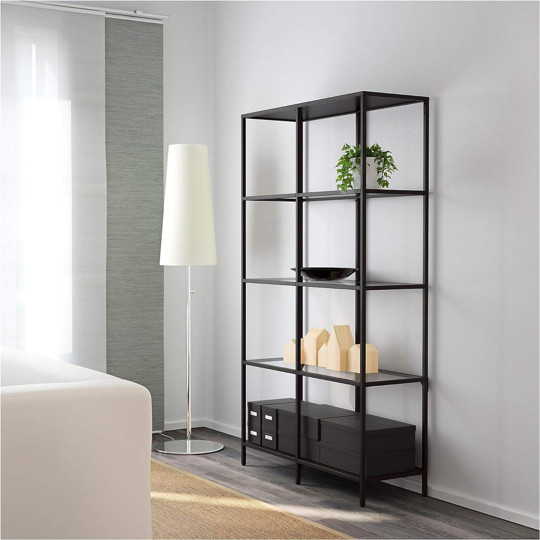IKEA Vittsjö - Estantería (cristal), color marrón: Amazon.es ...