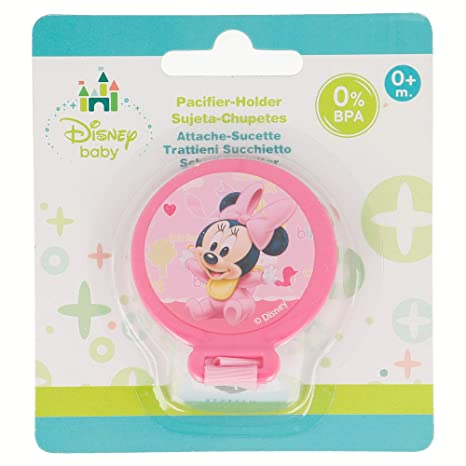 SUJETA CHUPETES MINNIE MOUSE - DISNEY - BABY PAINT POT