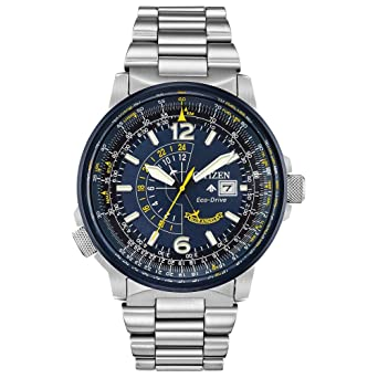 bfc55add285 Men s Citizen Eco-Drive Blue Angels Promaster Nighthawk Bracelet Watch  BJ7006-56L