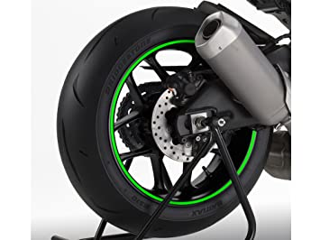 Uniracing 46012 Motorcycle Rim Strip Green Fluor Yamaha MT-07, Kawasaki Z900