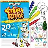 Kool Krafts Shrinky Art Crafts Set - 20 Clear, Glossy Sheets (8
