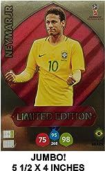 b2d067db5ee Jumbo XXL Limited Edition Panini 2018 WORLD CUP RUSSIA Adrenalyn XL Soccer  Card