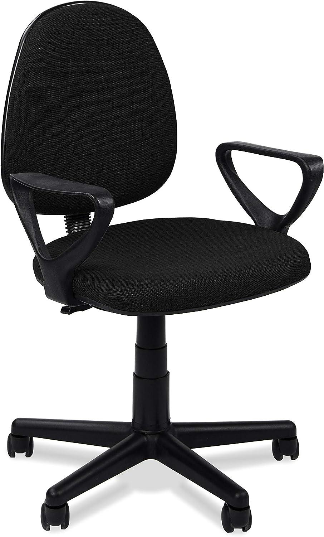 Adec - Danfer, Silla de Escritorio, Silla de Oficina o de Despacho, Color Negro Medidas: 54 x 79-91 cm