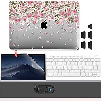 GMYLE Funda Dura 2018 MacBook Air 13 Pulgadas A1932 con Pantalla Retina Touch ID, Carcasa Rígida Protector, Webcam Cubierta, Protector de Pantalla, ...