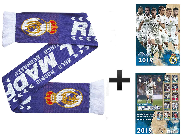Calendario Real Madrid.Real Madrid La Liga 2019 Football Calendar Scarf Gift Set