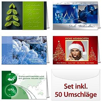 Weihnachtsgrüße Auf Spanisch.Internationale Weihnachtskarten Set 10 X 5 Motive Weihnachtsgüße In
