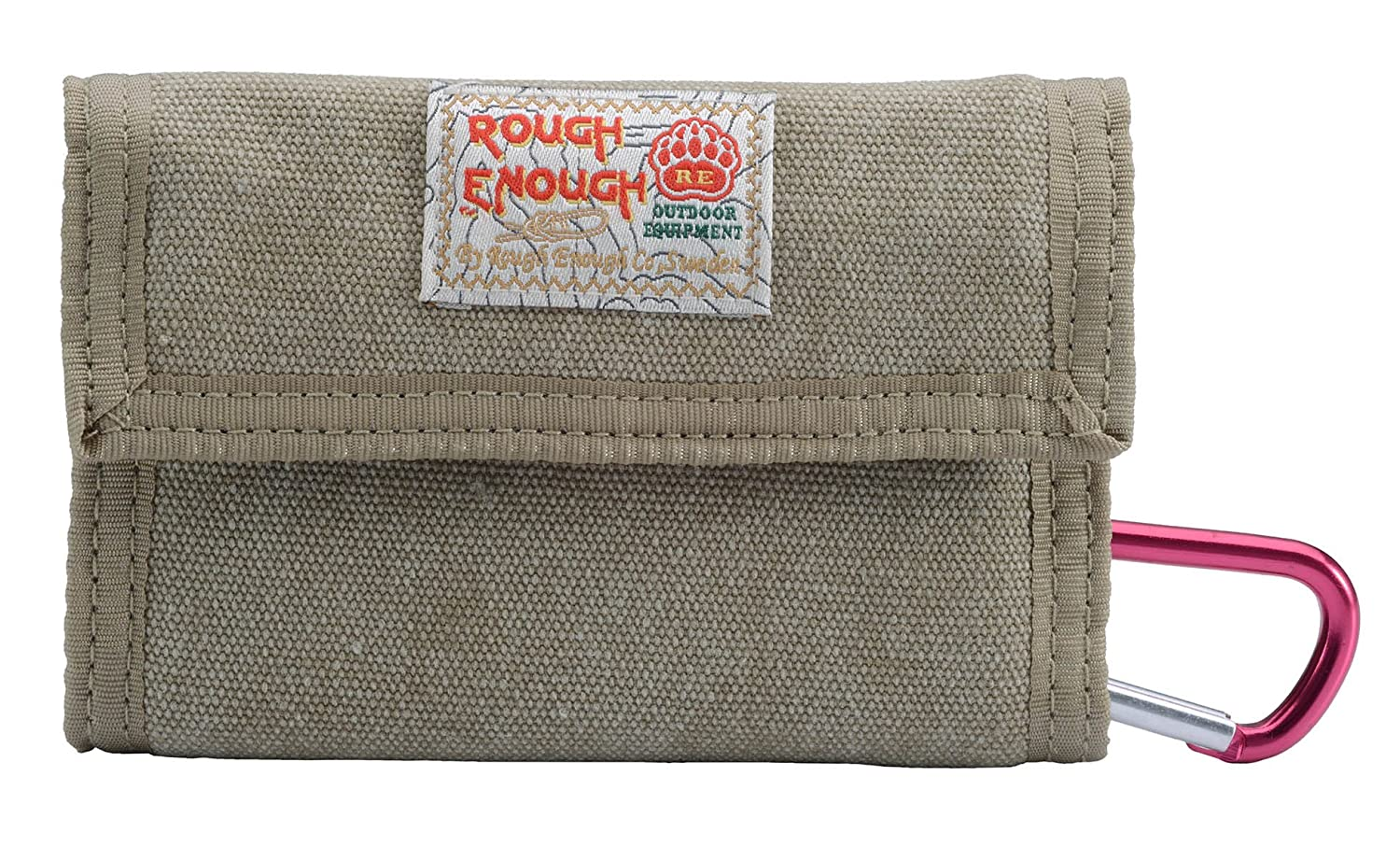Rough Enough Classic Stylish Vintage Fancy Portable Large Capacity Trifold Heavy Canvas Wallet Coins Purse Credit Card Holder Organizer Case with Zippered Pocket for Kid Boy Man Outdoor Travel School ROUGH ENOUGH INC. RE8002-4-6