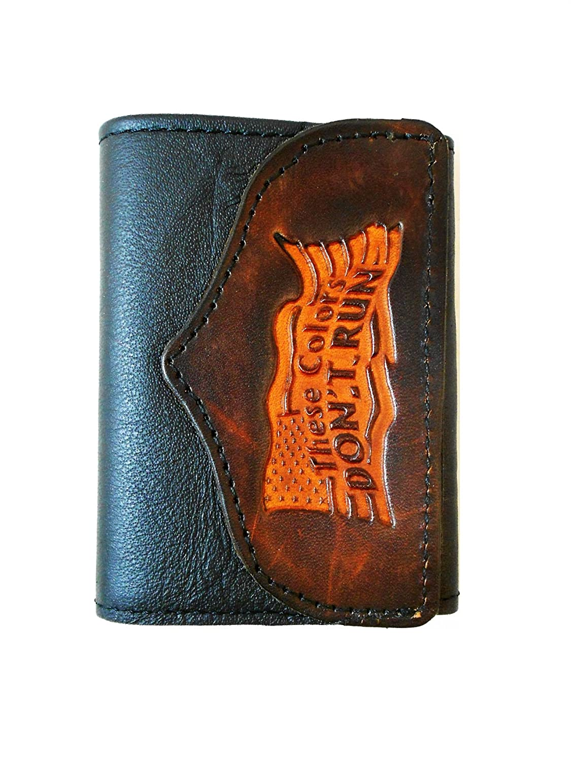 Hilltop Leather Company Handcrafted Trifold Wallet These Colors Don/'t Run