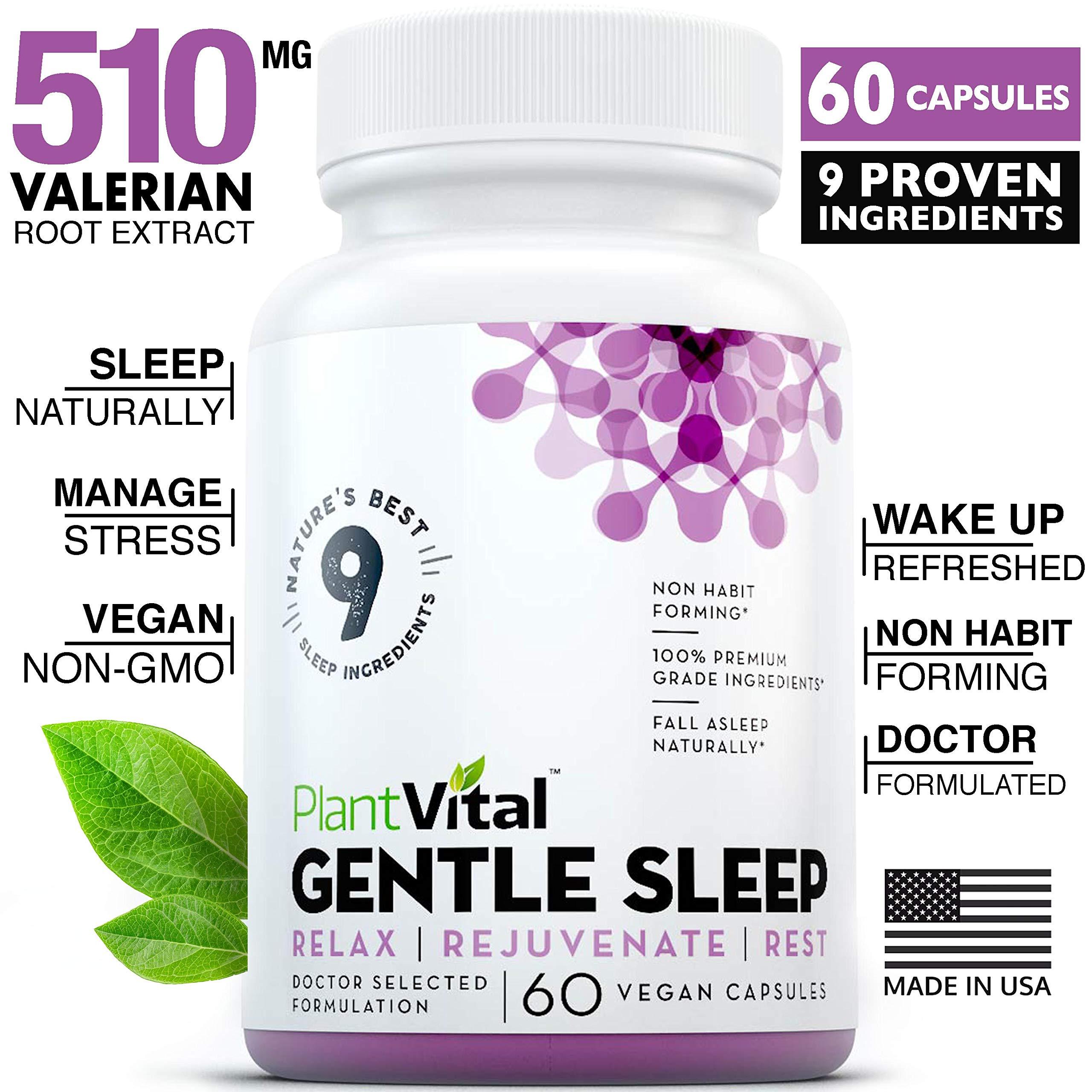 NEW! Sleeping Pills For Adults [EXTRA STRENGTH] Herbal Sleep Aid w Valerian Root, Melatonin, Chamomile, GABA, Lemon Balm. 60 All Natural Non-Habit Forming Vegan Capsules For Men & Women. Aids Insomnia
