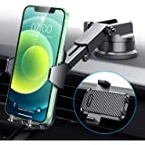 【2021 Upgraded Suction Cup】 VANMASS Universal Car Phone Mount, Patent Safety Cert Easy Clamp Dash Windshield Vent Handsfree P
