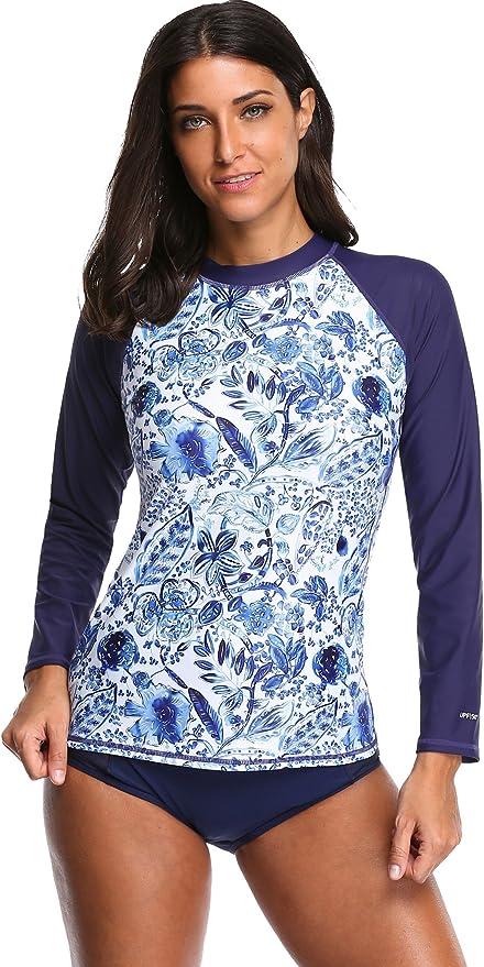 /Übergr/ö/ße UV-Schutz Attraco Damen-Bade-Shirt Kurzarm LSF 50