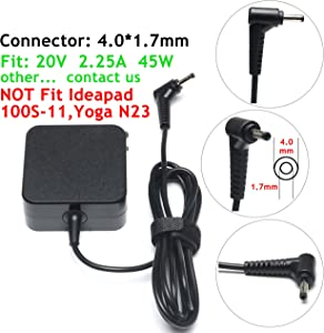 45W AC Adapter/Charger Power Cord Replacement for Lenovo Ideapad 100S 100 110 110S 120 120S 310 320 320S 510 510S 710S 720S 100-15IBD 100-15IBY 100-151BD Chromebook N22 N23 N42 Yoga 710 Flex 4 5