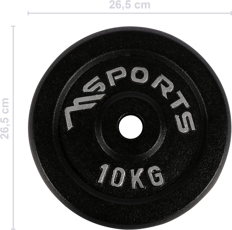 Schwarz 2 x 10 kg Par de discos profesionales 100 /% de hierro fundido 5-30/kg pesas