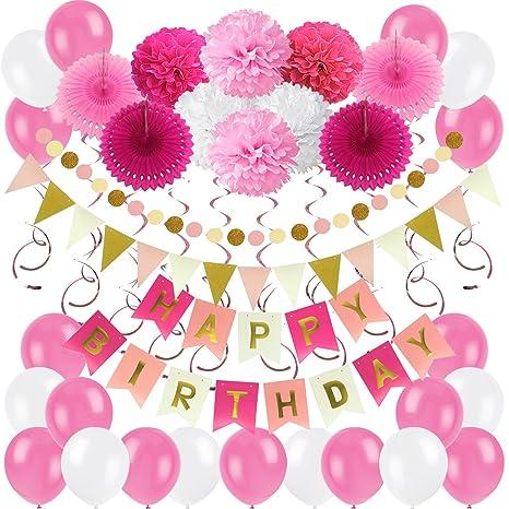 Zerodeco Decorazione Festa Di Compleanno Bandiere Happy Birthday E
