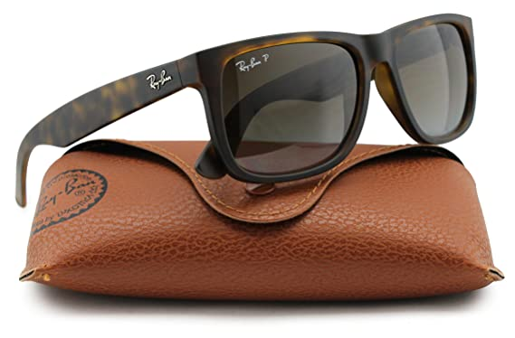 d0905d50184 Ray-Ban RB4165 Justin Polarized Sunglasses Matte Havana w Brown Gradient ( 865 T5) 4165 865T5 55mm Authentic  Amazon.co.uk  Clothing