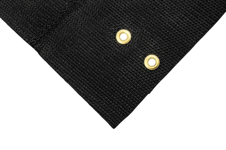 Camco 42909 Black Premium Wrap Around RV Step Rug 100/% Polyester 22 x 23