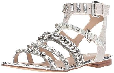 e0f58d6cb ALDO Women s BRARI Flat Sandal Silver 11 ...