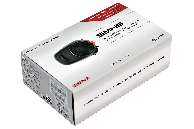 Sena SMH5-FM-UNIV Ecouteurs et Intercom Bluetooth avec Tuner FM Int/égr/é pour Conducteurs de Scooter et Moto Universal microphone kit Single Pack