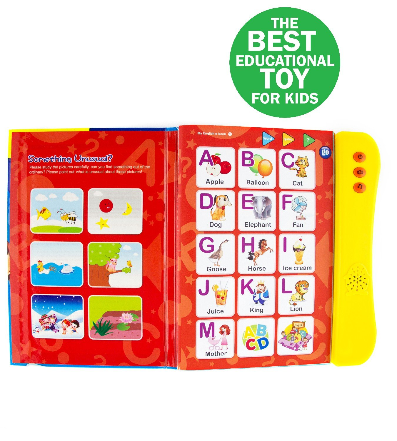ABC Sound Book for Children / English Letters & Words Learning Book, Fun Educational Toy. Learning Activities for Letters, Words, Numbers, Shapes, Colors and Animals for Toddlers by Boxiki kids (Image #6)