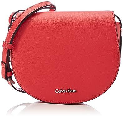 b52803cc9fe78 Calvin Klein Damen Frame Saddle Bag Umhängetasche
