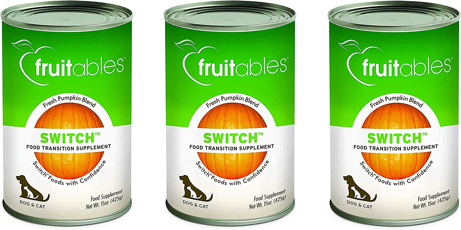 Fruitables Switch, 15 Ounces Each, Food Transition Supplement for Dogs and Cats (3 Pack)