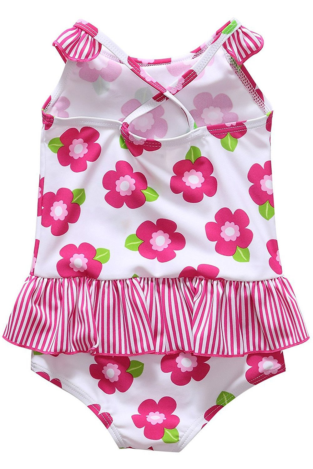 d787a5960e CharmLeaks Baby Girl Cute One Piece Swimming Costumes Printed Swimsuits  Swimwear larger image