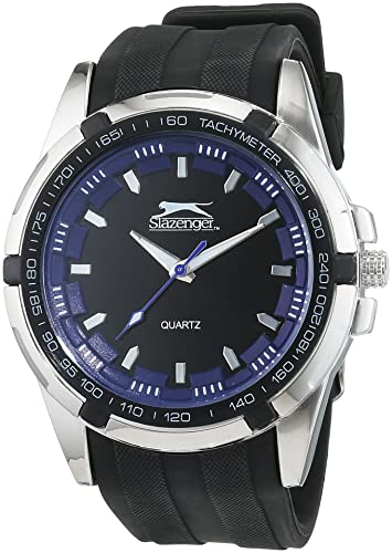 Slazenger SLZ175/B - Reloj de cuarzo para hombre, correa de silicona color negro: Amazon.es: Relojes