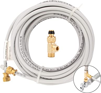 "American Fridge Freezer Plumbing Water Filter Connection Fitting Kit with 3//4/"" B"