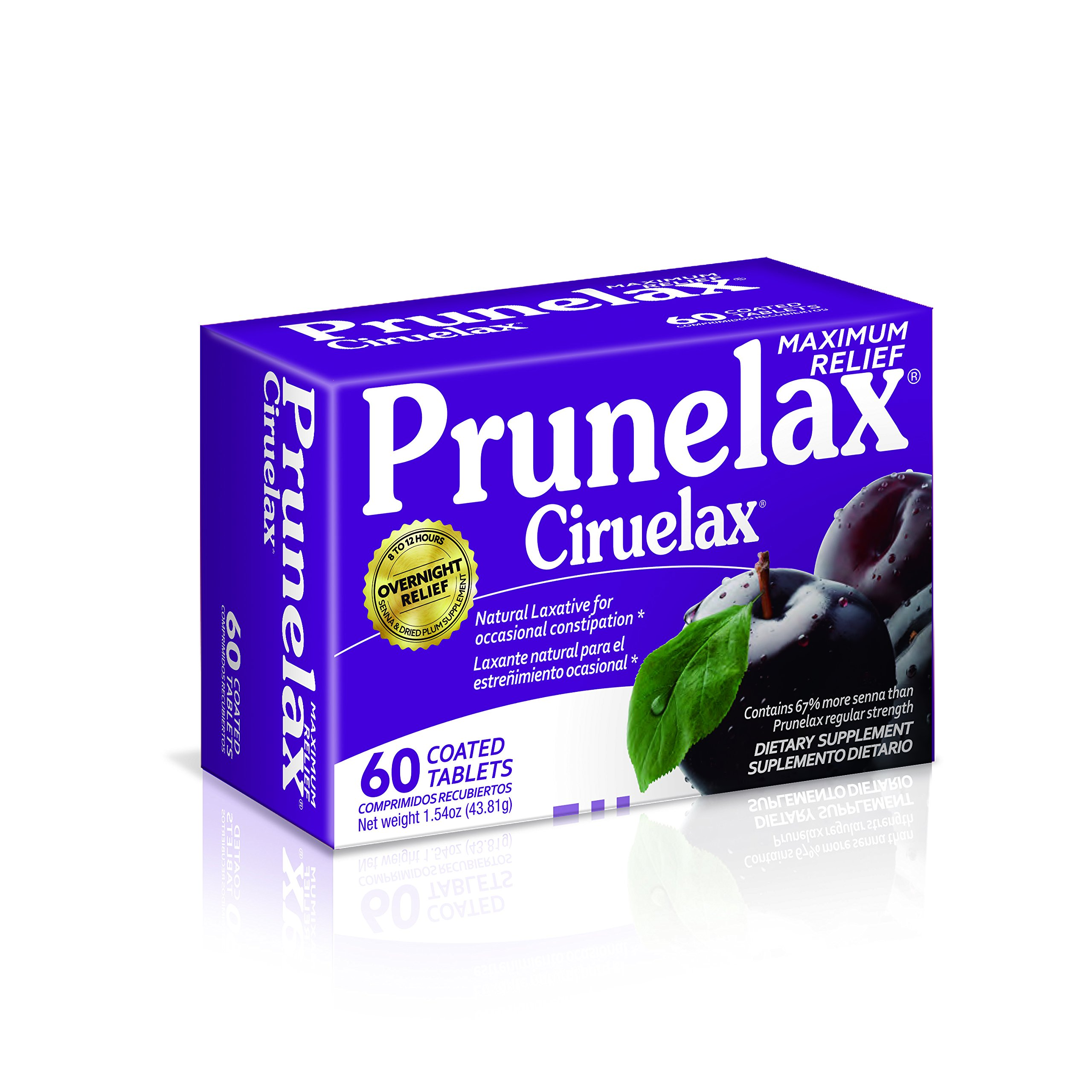Prunelax Extra Strength Capsules, 60 Count (Pack of 6)