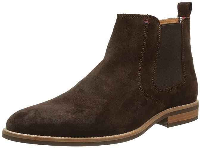 cb8331ce0eb843 Tommy Hilfiger Herren Essential Suede Chelsea Boots blau  Amazon.de  Schuhe    Handtaschen