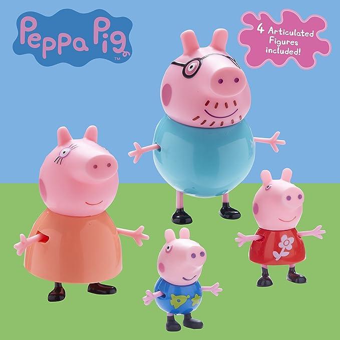Figuras Familia Peppa Pig Pack 4.: Amazon.es: Juguetes y juegos