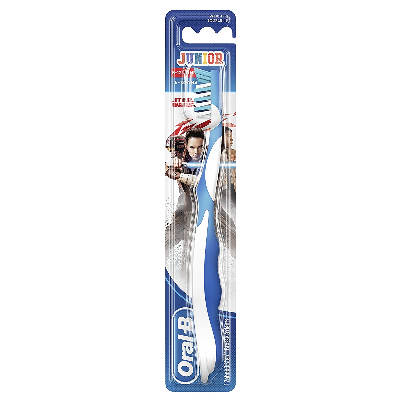 Oral B manual Junior - Cepillo de dientes manual con personajes Star Wars - Juego de 4: Amazon.es: Salud y cuidado personal