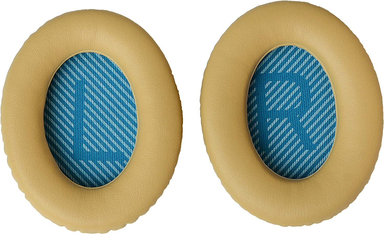 QC25 Replacement Ear Cushions Compatible with Bose QuietComfort 25 QC25, Beige Complete with QC25 Shaped scrims with L and R/' Lettering Headphones