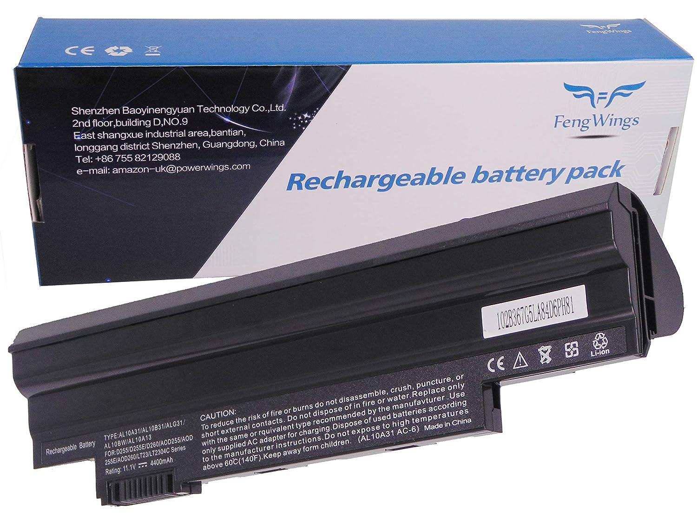 11.1 V 4400 mAh AL10A31 AL10B31 AL10G31 AL13C32 AL13D32 Reemplace la batería del portátil por Acer Aspire One D255 (PAV70) D257 D260 D270 522 , 722 Packard ...