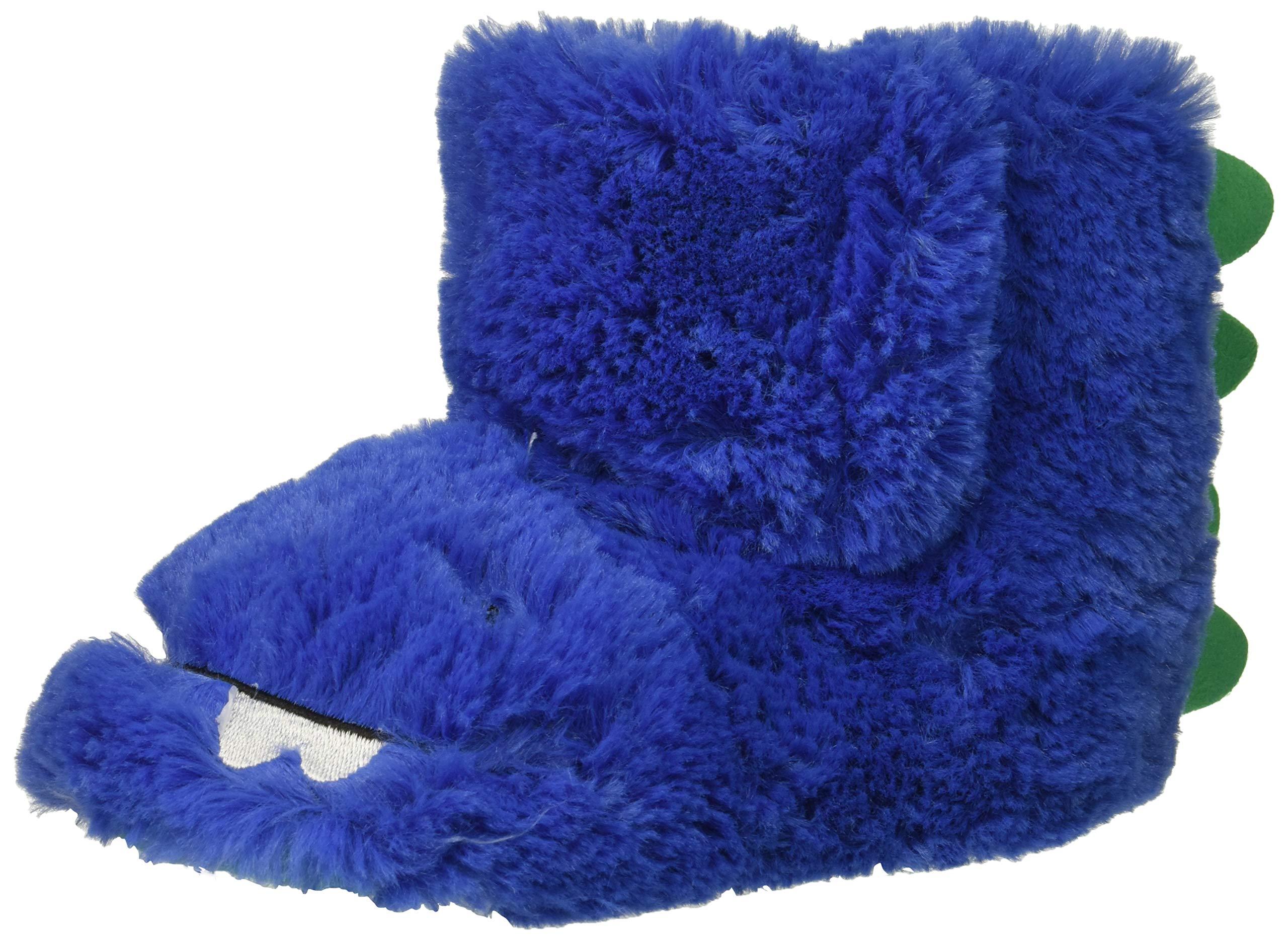 carter's Boys' Calvin-S Monster Slipper, Blue, 5/6 M US Toddler
