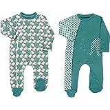 Baby Butt Schlafanzug 2er-Pack mit Druckmotiv Elefant Interlock-Jersey